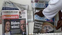 Kenia Medien Zeitungen Wahlsieg USA Joe Biden