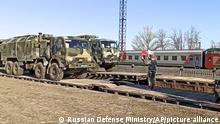 Russland Krim | Abzug des Militärs nach Manöver