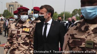 Tschad l Beerdigung von Präsident Idriss Déby Itno | Präsident Macron