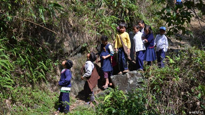 Children during an agrobiodiversity walk in Meghalaya, India