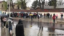 Moldau Protest vor dem moldauischen Verfassungsgericht in Chisinau