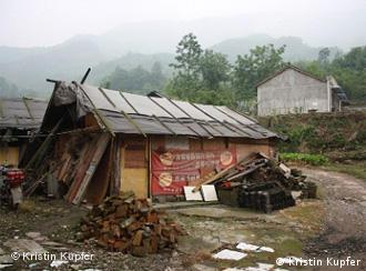 A wood hut in China