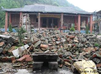 A destroyed temple in Sichuan two years after the earthquake