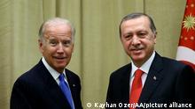 Joe Biden und Recep Tayyip Erdogan
