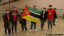 Mahnwache für Cabo Delgado. Foto: João Carlos/DW, 23.04.2021, Lisboa, Portugal