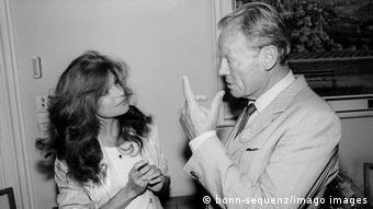 Η Μίλβα το 1982 με τον Βίλι Μπραντ