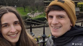 Emiliano Suárez Perín y Ana Doldan, en Edimburgo, Escocia.