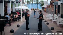 Spanien Covid-19 | Magaluf in Mallorca