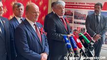 Zu sehen auf den Bildern mit Menschen: Parteichef der KPRF Gennady Zyuganov und Pavel Grudinin. Sie wurden heute, am 24.04.2021 von unserem Korrespondenten in Moskau Sergey Satanovsky geschossen. Es geht um Parteitag der Kommunistischen Partei Russlands (KPRF).