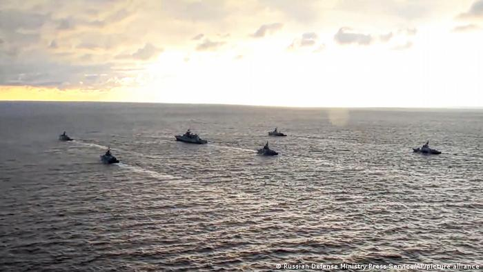 Six Russian military ships on the Black Sea