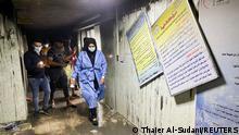 Irak | Corona-Intensivstation | Mehr als 20 Tote bei Brand in Krankenhaus in Bagdad