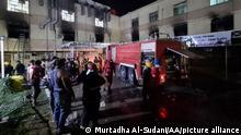 rak | Corona-Intensivstation | Mehr als 20 Tote bei Brand in Krankenhaus in Bagdad