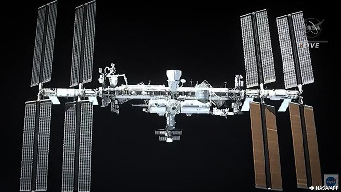 The International Space Station from the SpaceX Dragon spacecraft