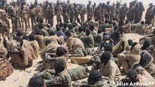 Tschad Armee FACT Rebellen Gefangene