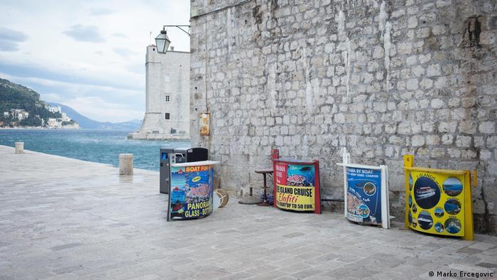 Kroatien Corona-Pandemie Ausbleiben von Tourismus in Dubrovnik