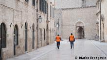 ***ACHTUNG: Bild nur zur mit dem Rechteinhaber vereinbarten Berichterstattung verwenden!*** via Nenad Kreizer Stadt Dubrovnik wo Touristen wegen der Coronakrise in diesem Frühling ausgefallen sind. Rechte: Marko Ercegovic