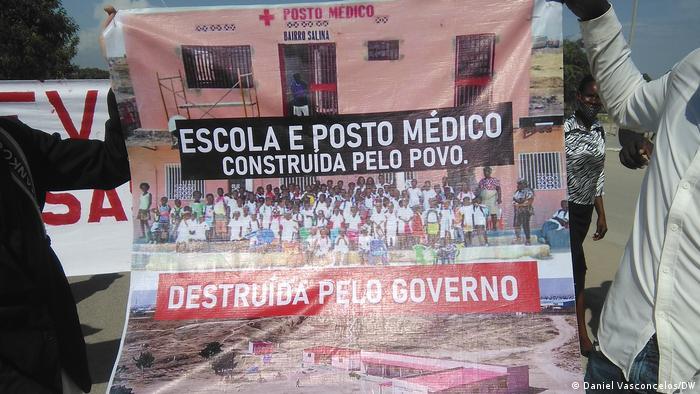 Angola Benguela | Protest für die Opfer der Abrisse im Salinas-Viertel