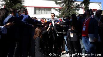 Albanien Tirana |Wahl 2021 |Lulzim Basha. Demokratische Partei