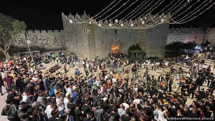 Foto de personas en Jerusalén