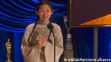 USA, Los Angeles: 93. Oscarverleihung - Chloe Zhao gewinnt den Oscar für die beste Regie