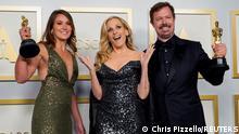 USA, Los Angeles: 93. Oscarverleihung - Pippa Ehrlich Gewinnerin des Preises für den besten Dokumentarfilm für My Octopus Teacher