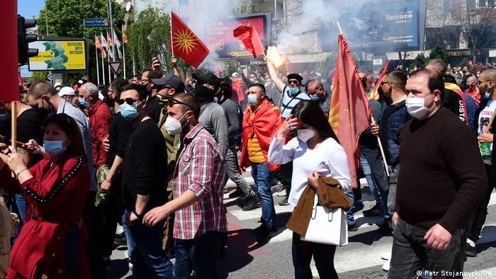 Nord-Mazedonien Skopje | Protest der Opposition
