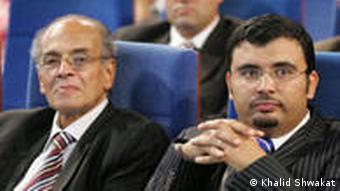 Der Festivaldirektor Khaled Shawkat mit dem ägyptischen Regisseur Madkur Thabet