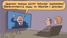Karikatur Sergey Elkin Russland Festnahmen
