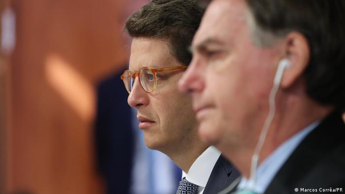 Ministro do Meio Ambiente, Ricardo Salles, e presidente Jair Bolsonaro