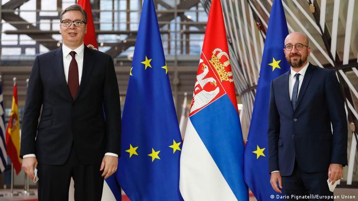 Aleksandar Vučić i Charles Michel