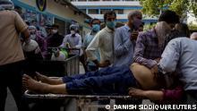 Indien   Corona dramatische Situation in Delhi