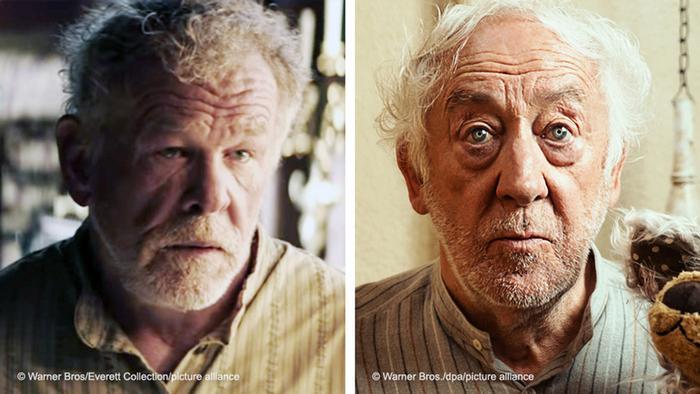 Two film stills: Head full of Honey (2018) und Honig im Kopf (2014)