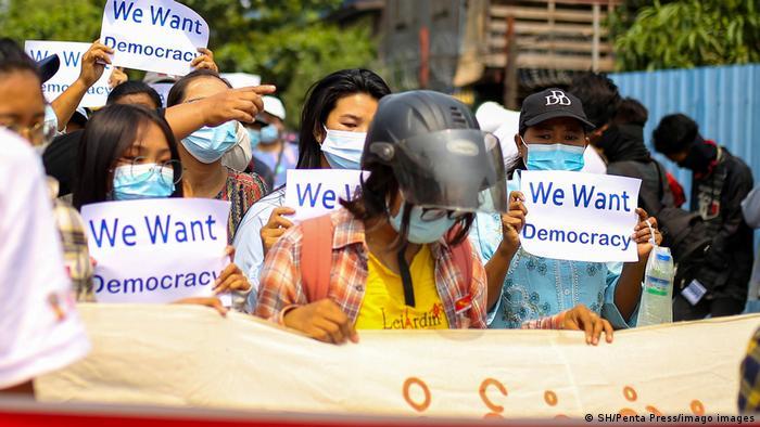 Desobediencia civil en Birmania.