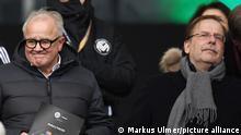 Fussball International EM 2020 Qualifikation Gruppe C in Frankfurt Deutschland - Nordirland 19.11.2019 DFB Praesident Fritz Keller (li, Deutschland) und Vizepraesident DFB Dr. Rainer Koch (re, Deutschland) FOTO: ULMER Pressebildagentur xxNOxMODELxRELEASExx