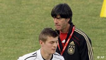 Joachim Loew and Toni Kroos