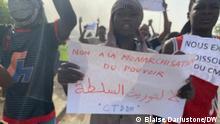 Tschad Demos gegen Übergangsmilitärrat