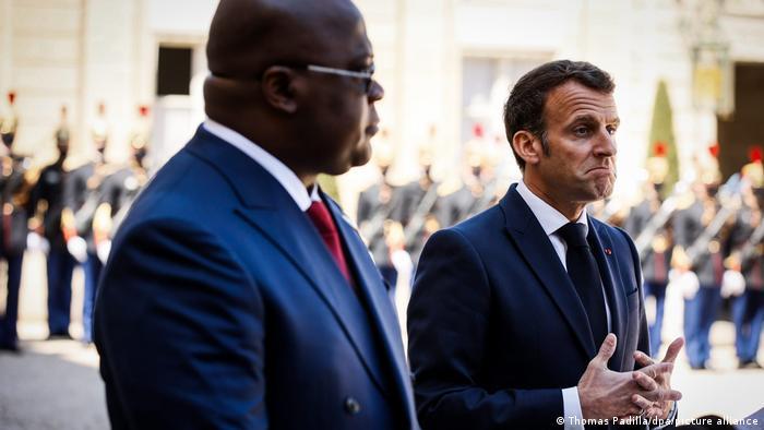 Felix Tshisekedi et Emmanuel Macron