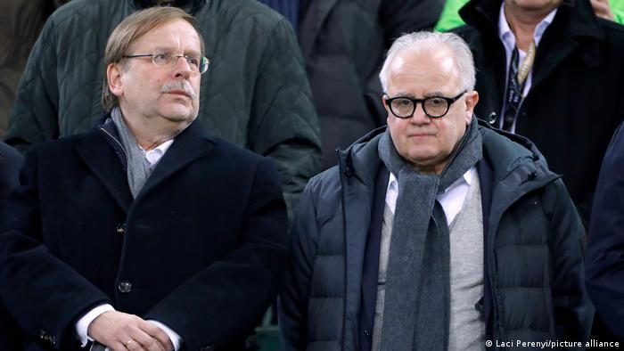 DFB Präsident Keller (R) und Vize Koch