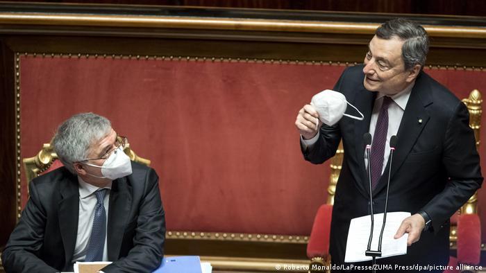 Italiens Ministerpräsident Draghi präsentiert Aufbauplan