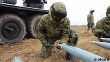 Kroatien |Soldaten bei der Übung