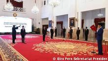 Indonesien | Präsident Joko Widodo | Amtseinführung von Bildungs- und Wirtschaftsminister