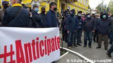 Moldau Protest Verfassungsgericht