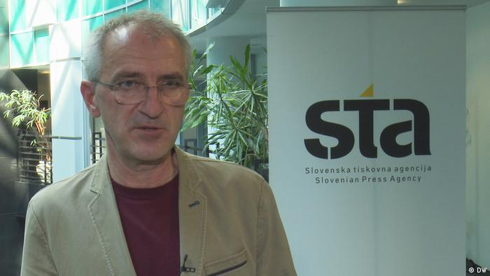 Porträt von Bojan Veselinovic, Direktor der slowenischen Nachrichtenagentur sta