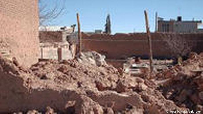 Zerstörtes Haus Iran