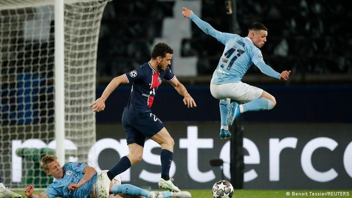 Paris St Germain v Manchester City.