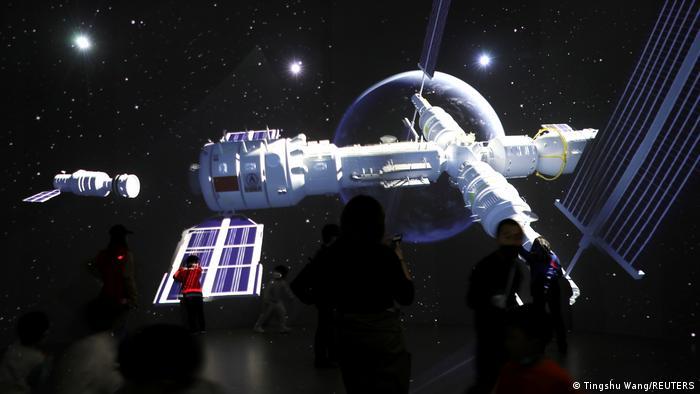 So wird die Raumstation Tiangong nach ihrer für das kommende Jahr geplanten Fertigstellung aussehen