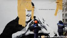 BdTD Russland Sankt Petersburg | Graffito mit Nawalny übermalt
