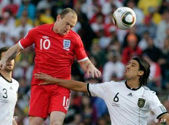 Матч одной восьмой финала между сборными Германии и Англии