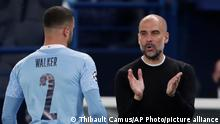 Fußball | Champions League | Manchester City | Pep Guardiola und Kyle Walker