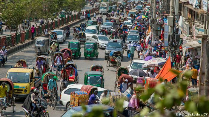 Bildergalerie Menschenmassen Bangladesh Einkaufszentren öffnen wieder